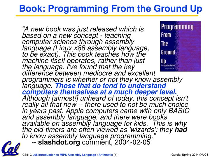 Book: Programming From the Ground Up