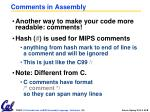 comments in assembly