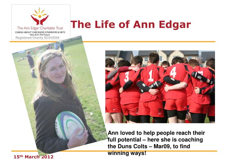 Ann loved to help people reach their full potential – here she is coaching