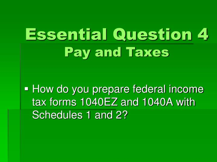 Essential Question 4