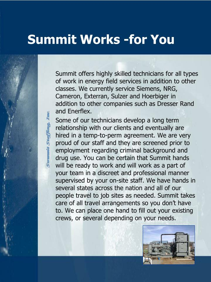 Summit Works -for You