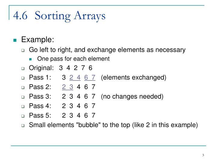 4.6Sorting Arrays