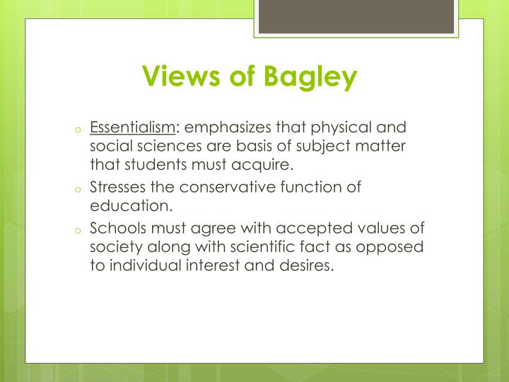 Views of Bagley