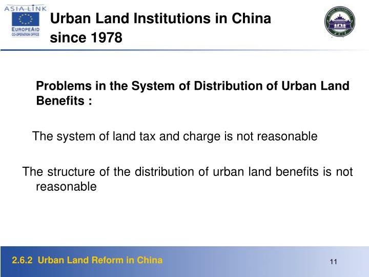 Urban Land Institutions in China since 1978