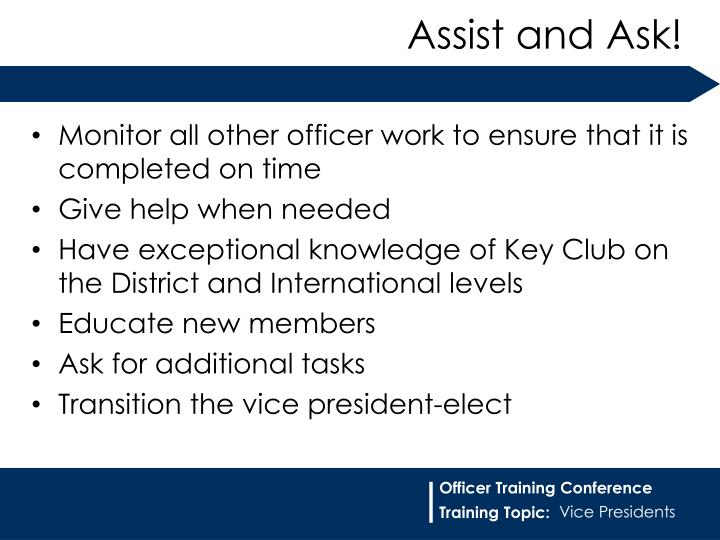 Monitor all other officer work to ensure that it is completed on time