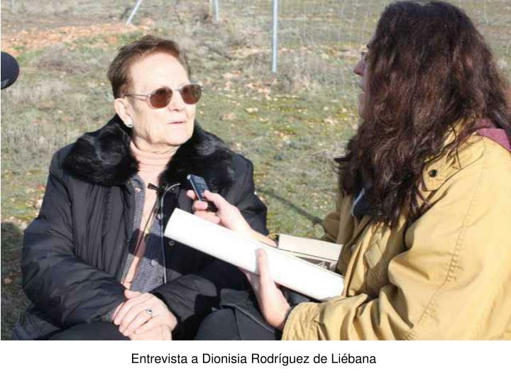 Entrevista a Dionisia Rodríguez de Liébana