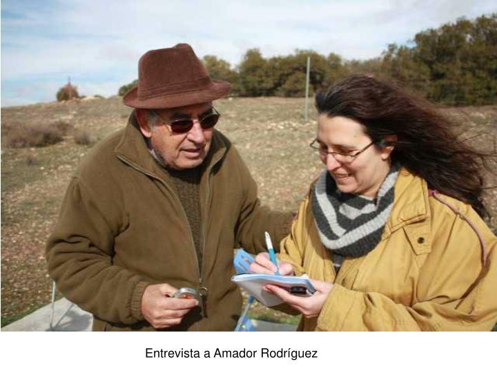 Entrevista a Amador Rodríguez