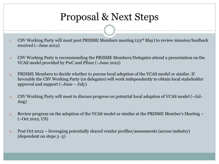Proposal & Next Steps