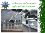 balustrades and decorative eagles on terrace nineteen