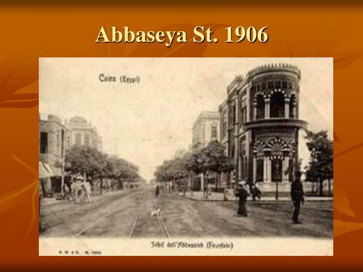 Abbaseya St. 1906