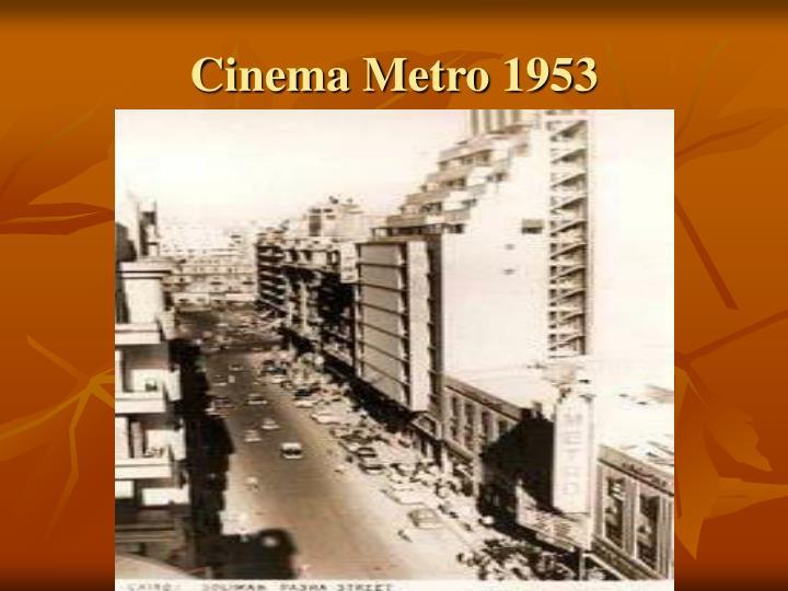 Cinema Metro 1953