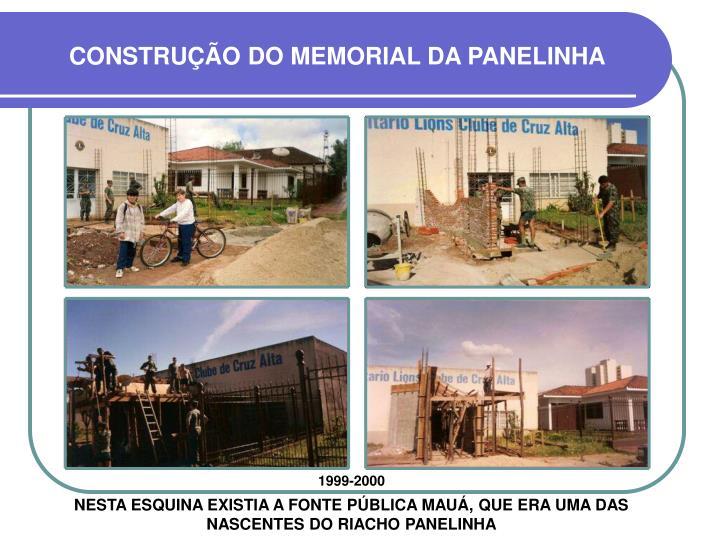 CONSTRUÇÃO DO MEMORIAL DA PANELINHA