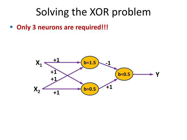 Solving the XOR problem