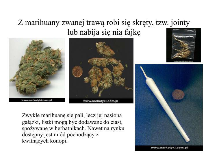 Z marihuany zwanej trawą robi się skręty, tzw. jointy lub nabija się nią fajkę