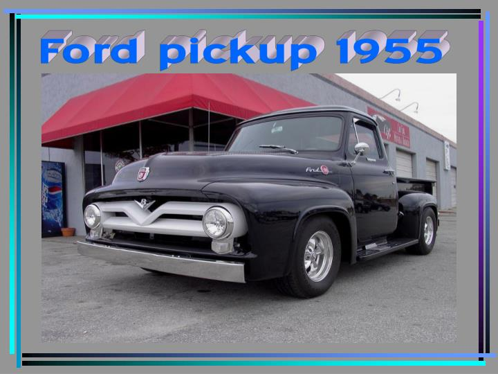 Ford pickup 1955