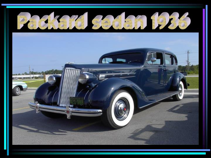 Packard sedan 1936