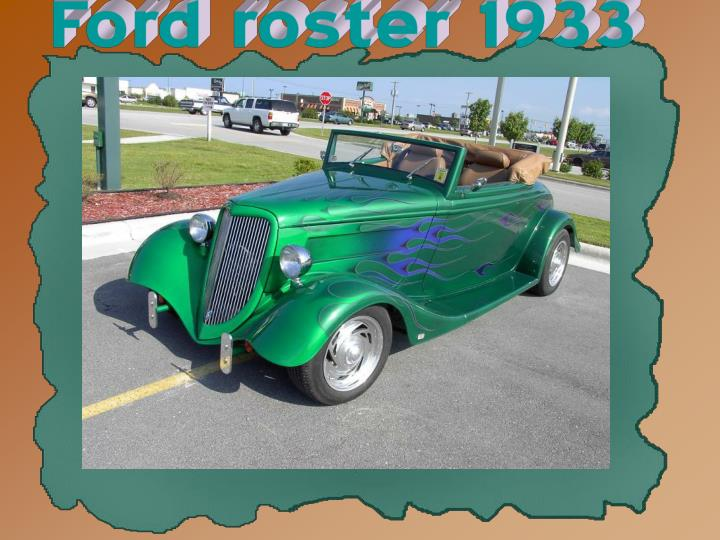 Ford roster 1933