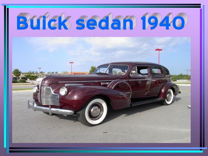 Buick sedan 1940