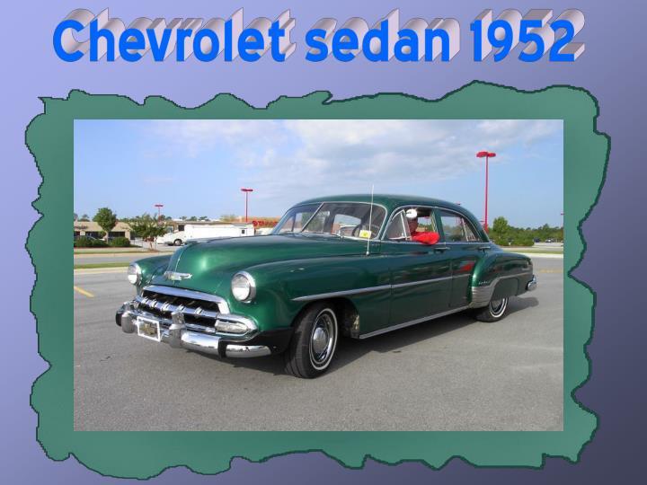 Chevrolet sedan 1952