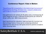 conference report kidz in motion