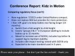 conference report kidz in motion10