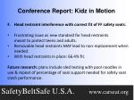 conference report kidz in motion6