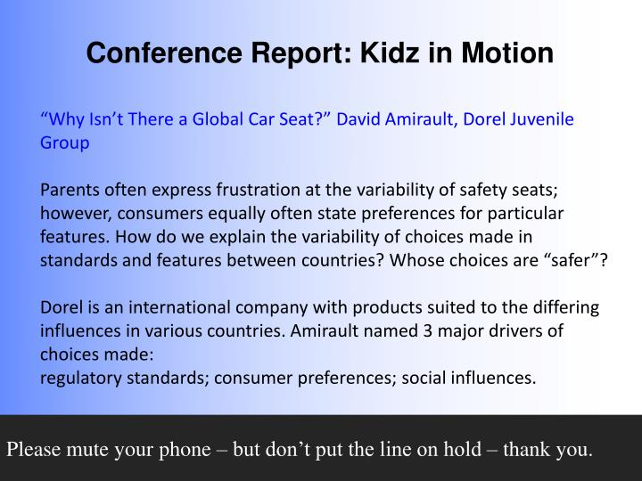 """Why Isn't There a Global Car Seat?"" David"
