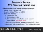 research review atv riders helmet use3