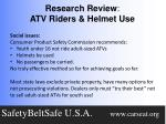 research review atv riders helmet use5