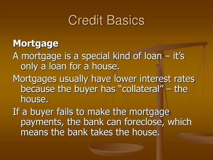 Credit Basics