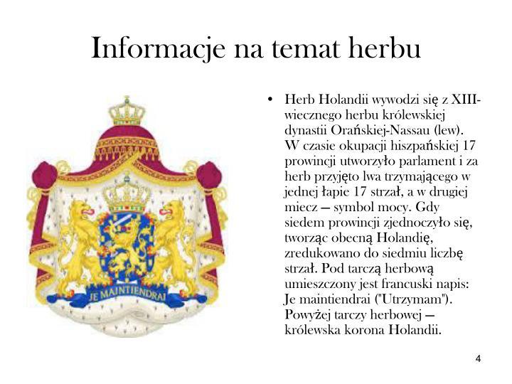 Informacje na temat herbu