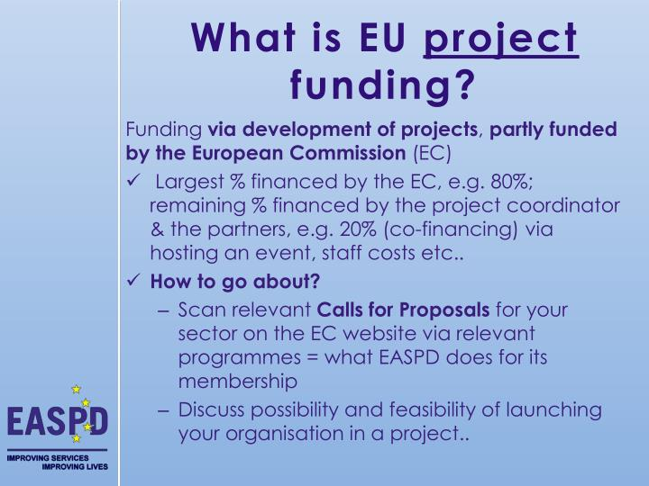 What is eu project funding