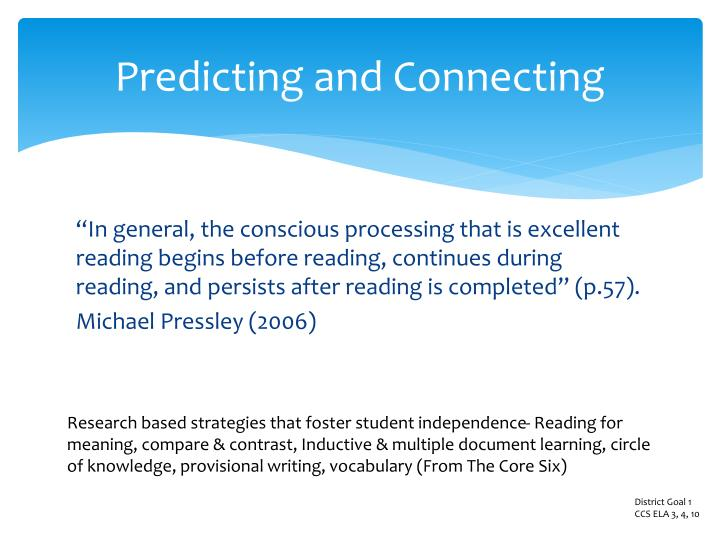 Predicting and Connecting
