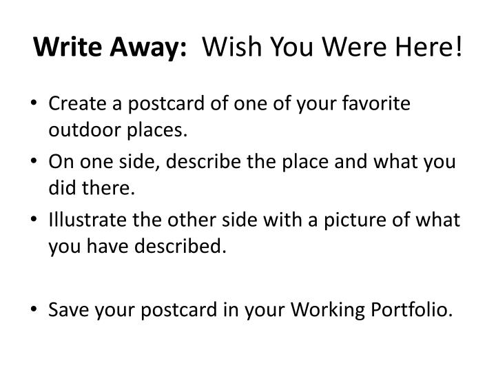 Write Away: