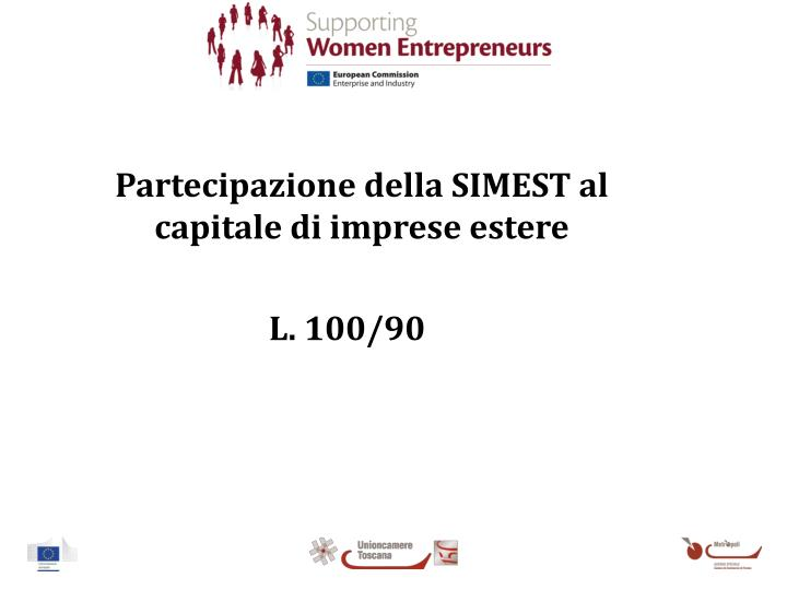 Partecipazione della SIMEST al capitale di imprese estere