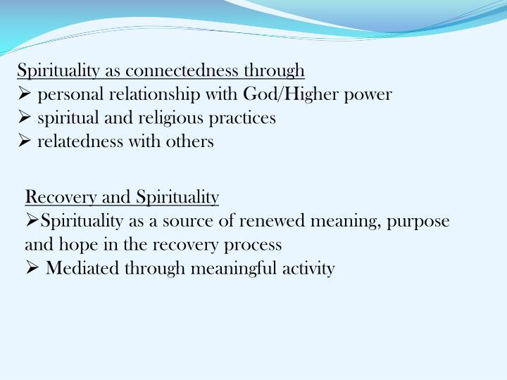 Spirituality as connectedness through