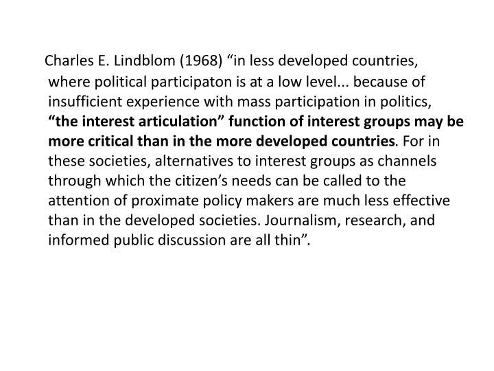 """Charles E. Lindblom (1968) """"in"""