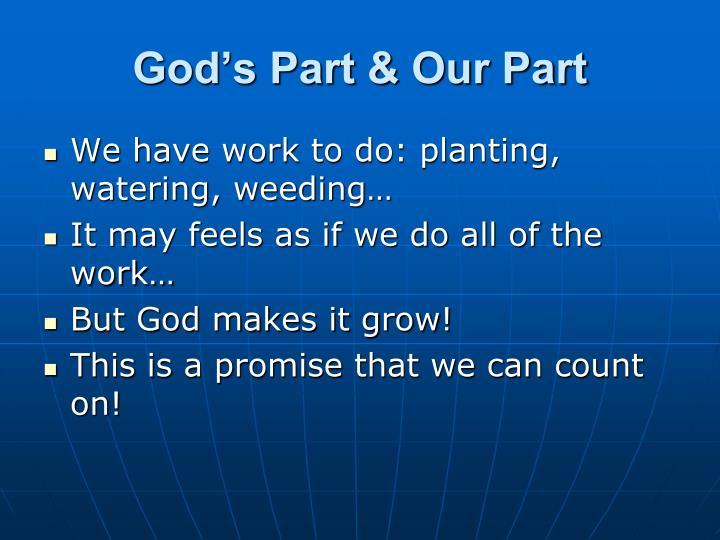 God's Part & Our Part