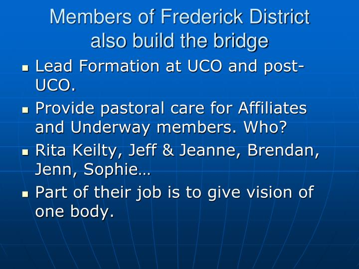 Members of Frederick District