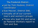 the frederick district