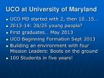 uco at university of maryland