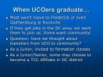 when ucoers graduate