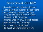 who s who at uco md