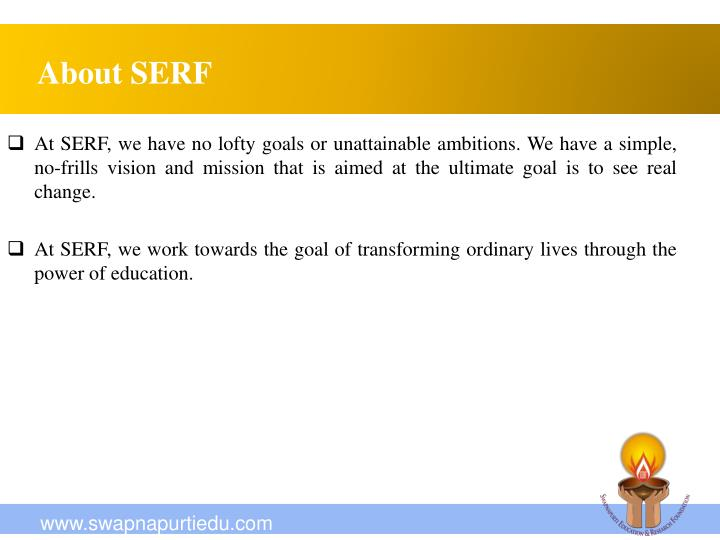 About SERF