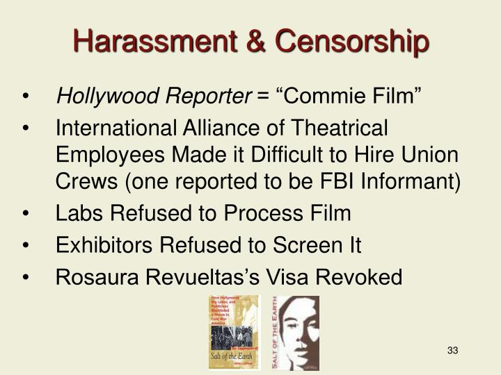 Harassment & Censorship