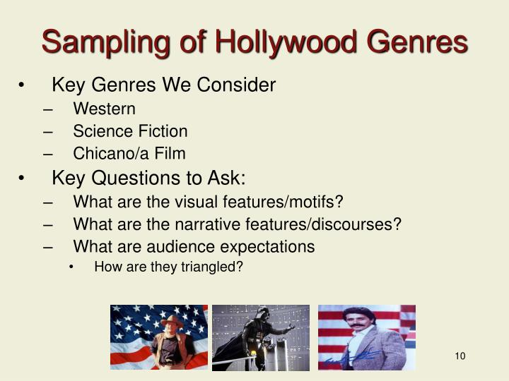 Sampling of Hollywood Genres