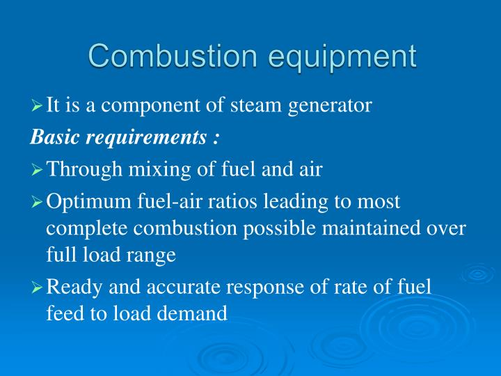 Combustion equipment