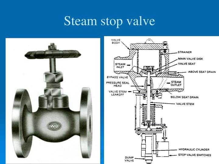 Steam stop valve