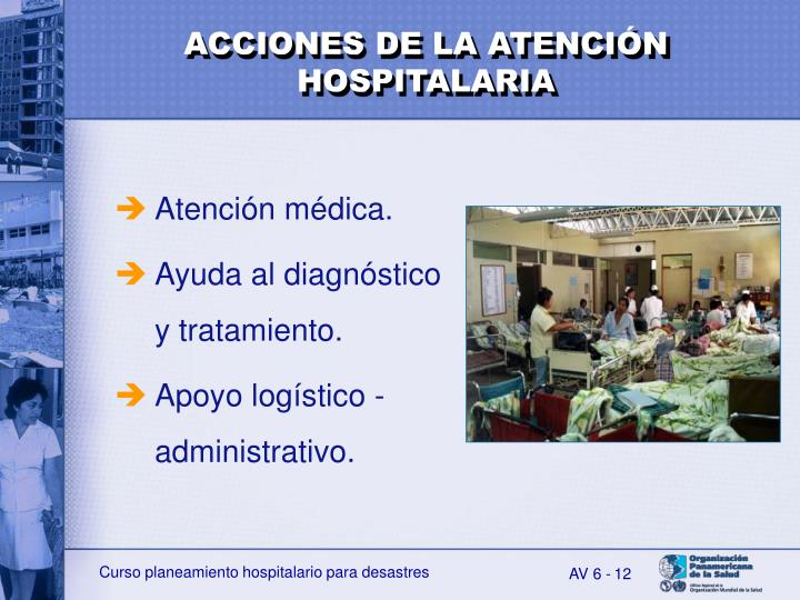 ACCIONES DE LA ATENCIÓN