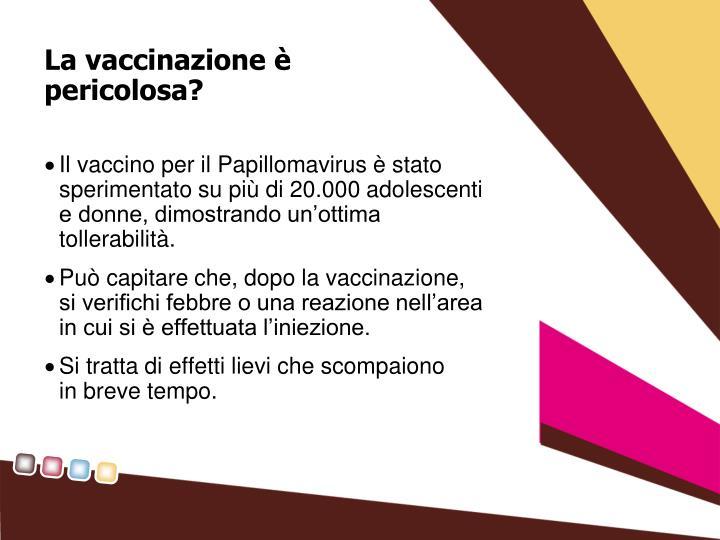 La vaccinazione è